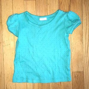 Mini Boden 3-4 Years Teal Aqua Top Short Sleeve